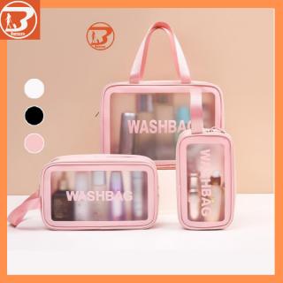 Túi đựng mỹ phẩm Washbag trong suốt có quai cao cấp thumbnail