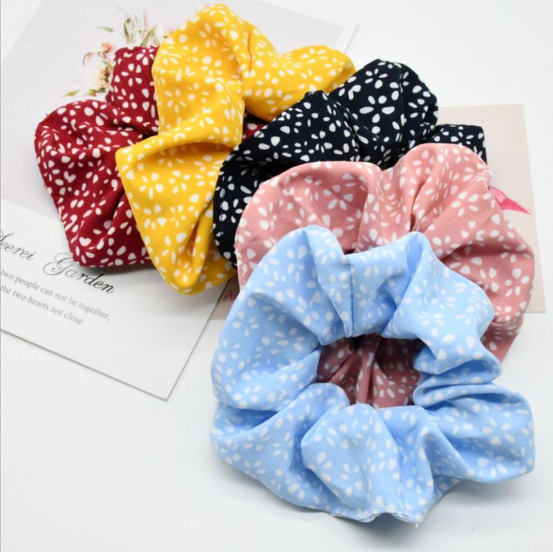 Scrunchies/Dây buộc tóc vải Hoa nhí cao cấp