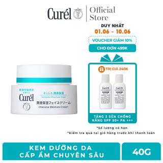[Voucher 50K cho đơn hàng 699K] Kem Dưỡng Da Cấp Ẩm Chuyên Sâu Curel Intensive Moisture Care Intensive Moisture Cream 40g thumbnail