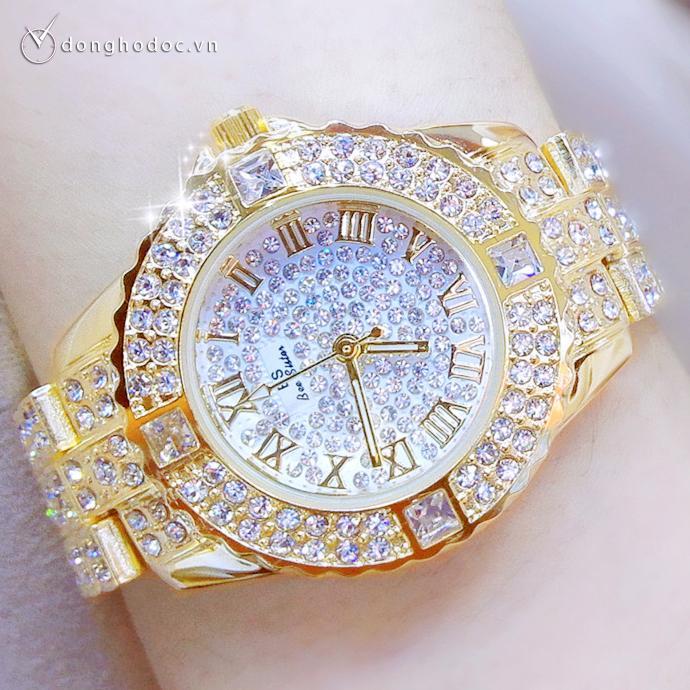 Nơi bán Đồng hồ nữ BS BEE SISTER  Đính đá siêu đẹp + Tặng Hộp & Pin
