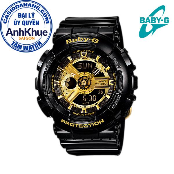 Đồng hồ nữ dây nhựa Casio Baby-G chính hãng Anh Khuê BA-110-1ADR (43mm)