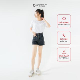 Quần short Jean cạp cao CChat Clothes thumbnail