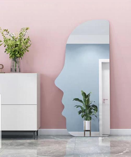 Gương khuôn mặt led cảm ứng VUADECOR dựa tường có đế gỗ size 70x160cm giá rẻ