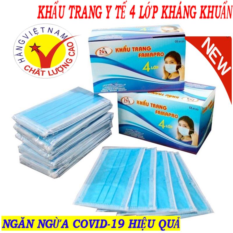 (50 cái) - Khẩu trang vải kháng khuẩn Nagakawa, Khẩu trang - Khẩu trang y tế 4 Lớp Kháng Khuẩn Với Công Dụng Ngăn Ngừa Khói Bụi, Lây Nhiễm Bệnh Tật -