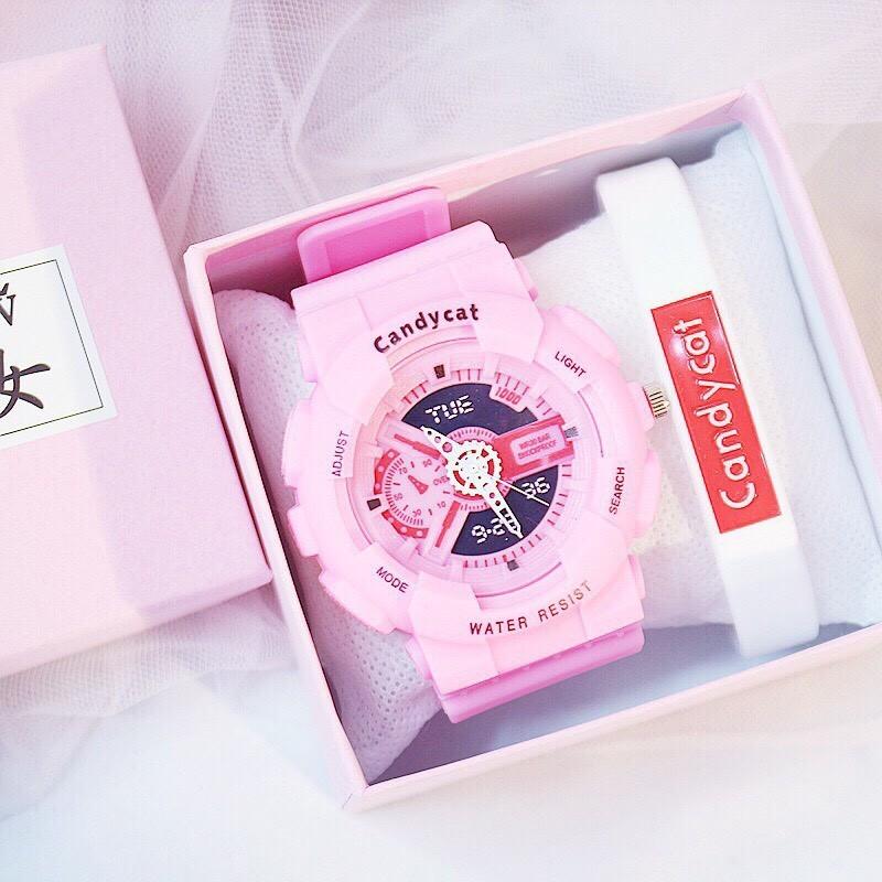 Đồng hồ thời trang nam nữ Candycat C101 chạy kim giả điện tử (tặng kèm pin)