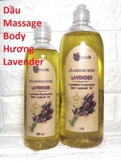 (1000ml) Dầu Massage Body Hương Lavender Oải Hương chuyên dùng Spa, Trơn Tay, Thơm Dịu ACENA thumbnail