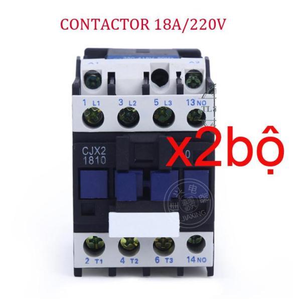 02 Bộ khởi động từ Contactor công suất 18A/220V