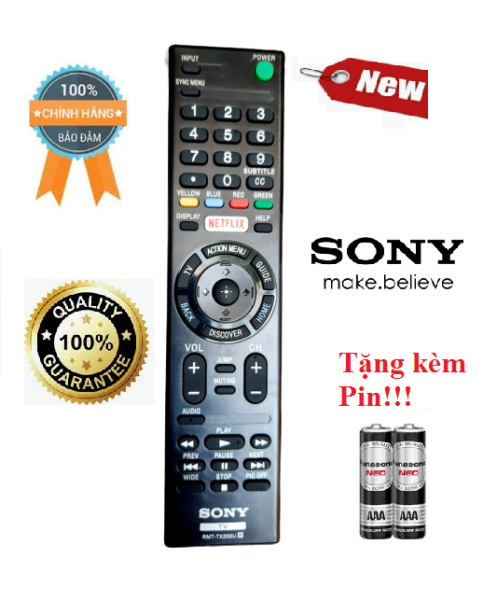 Bảng giá Điều khiển Tivi Sony RMT-TX200U Hàng mới chính hãng 100% Tặng kèm pin