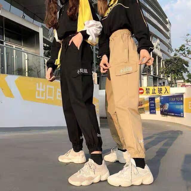 [HCM]Quần dài nữ quần jogger kaki nữ  quần dài nữ đi chơi quần jogger kaki nam quần jogger nữ kiểu dáng túi hộp thêu chữ Love cực xinh Mens and womens jogger pants