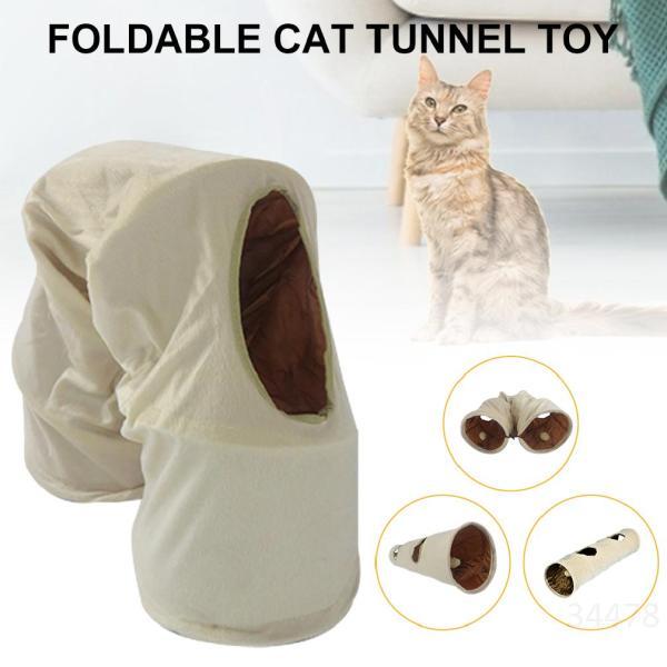 Thú cưng Đồ chơi Mèo Đường hầm Mèo trong nhà 1 chiều Chó thỏ Thỏ Playhouse Folding Collapsible, 9,8 Diam TRMOEums