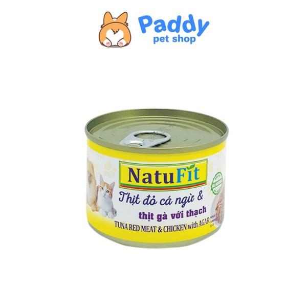 Pate NatuFit Cho Chó Mèo - Thịt đỏ cá ngừ + Thịt gà thạch (Lon 160g)