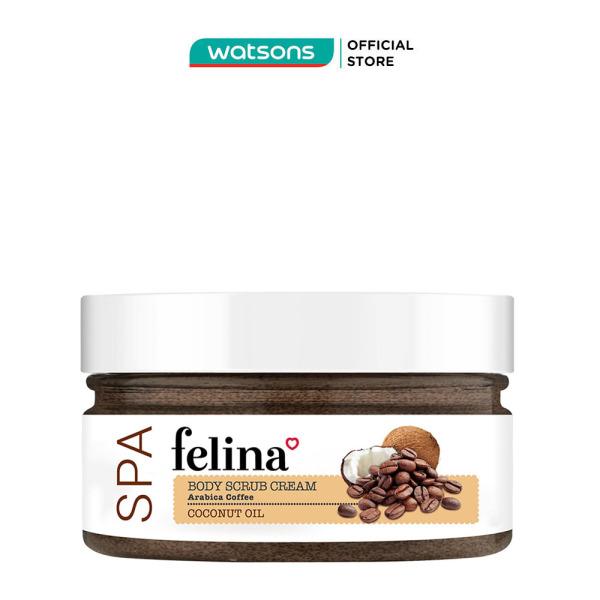 Kem Tẩy Tế Bào Da Felina Body Scrub Cream Hạt Cà Phê Và Tinh Dầu Dừa 220g