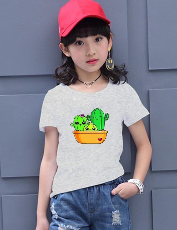 Áo thun bé gái mềm mịn thoáng mát in hình dễ thương BG50