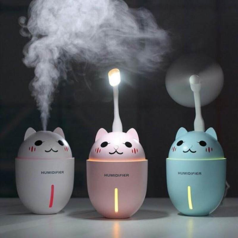Bảng giá Máy phun sương tạo ẩm cao cấp 3in1 kiêm quạt USB và đèn led hình mèo con Phong Vũ