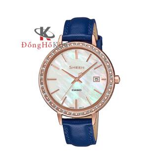 Đồng hồ nữ Casio SHEEN SHE-4052PGL-7A mặt trắng, dây xanh thanh lịch. thumbnail