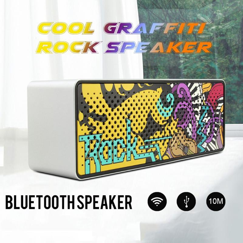 [VOUCHER 7%] Loa Bluetooth Không Dây Di Động Graffiti Không Dây Loa Âm Thanh 10W Nhạc Stereo Vòm, Loa Ngoài Trời, Chống Nước - Hàng Chính Hãng