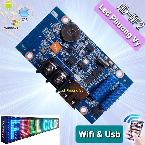 Card HD WF2 (USB, Wifi) dùng cho Led ma trận Full color - Thay thế cho card W60-75
