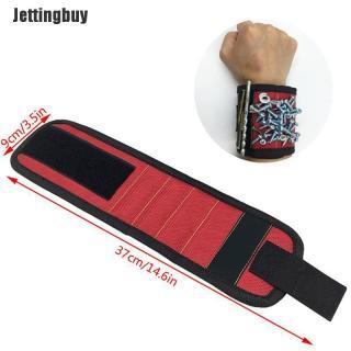 Jettingbuy Vòng Đeo Tay Nam Châm Túi Dụng Cụ Quấn Tay Dụng Cụ Giữ Vít Cổ Tay Cho Thợ Điện Vòng Đeo Tay thumbnail