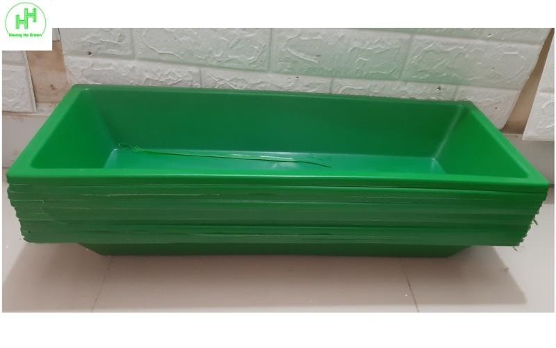 10 Máng/Khay Nhựa Làm Mát Cho Lan, Máng Ăn, Uống Cho Lợn, Gà, Kích Thước 60x24x10Cm