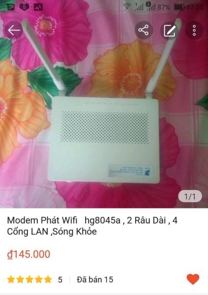 Bảng giá modem wifi Huawei 8045A của VNPT Phong Vũ