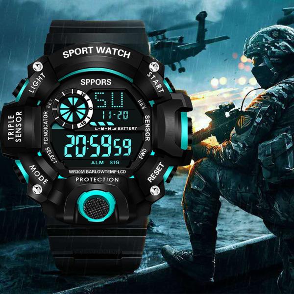 Nơi bán Đồng hồ nam điện tử SPORT K8189 dây NHỰA silicon -đồng hồ chức năng xem giờ điện tử , báo thức, bấm giờ thể thao dây nhựa silicon cao cấp