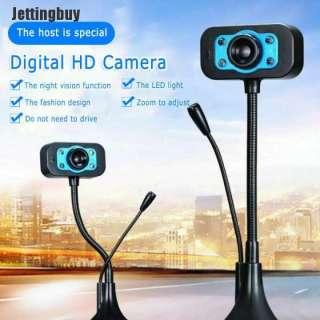 Camera gắn máy tính, Webcam kèm microphone cho máy tính, HD Webcam Máy Tính, Camera Kỹ Thuật Số Phát Trực Tiếp Video Lớp Học Trực Tuyến Microphone. 2
