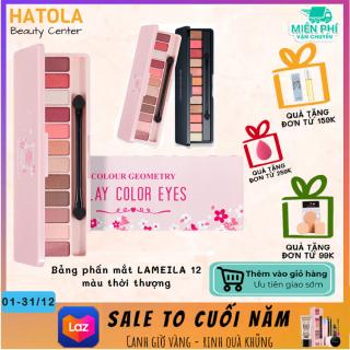 HATOLA - Bảng phấn mắt LAMEILA 12 màu thời thượng phấn mắt nội địa Trung bảng màu mắt 13g thumbnail