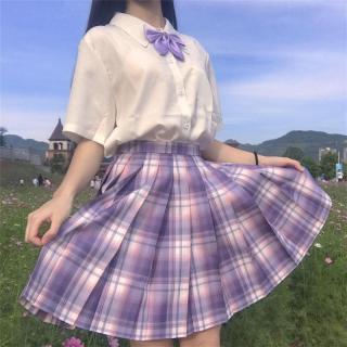 đồng phục jk váy kẻ sọc Bộ đồ thủy thủ, váy xếp ly, đồng phục học sinh, váy Nhật Bản thumbnail