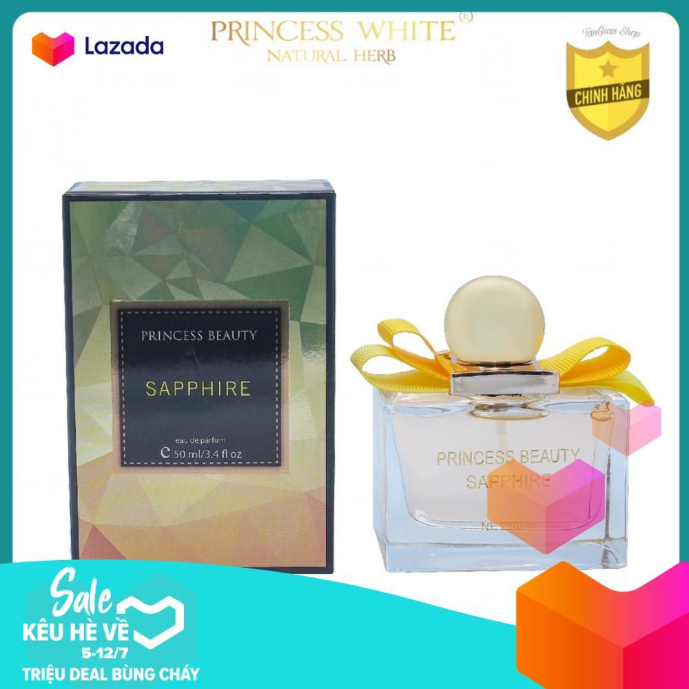 Nước hoa Shappire Princess White hương Hạnh Nhân & Mâm Xôi - Dịu ngọt, thanh khiết/50ML nhập khẩu