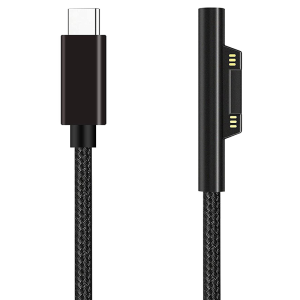 Bảng giá Nylon Braided Surface Connect to USB-C Charging Cable PD 15V for Surface Pro 7/6/5/4/3,Laptop 3/2/1,Surface Go Phong Vũ