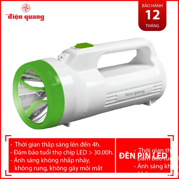 Đèn Pin LED Điện Quang ĐQ PFL06 R WG (Pin sạc, Trắng - Xanh lá)