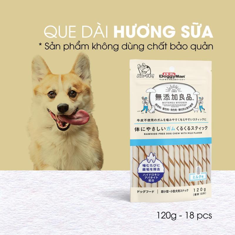 Snack que gặm hương sữa không chất bảo quản cho chó cưng DoggyMan loại 18 cây - 82399