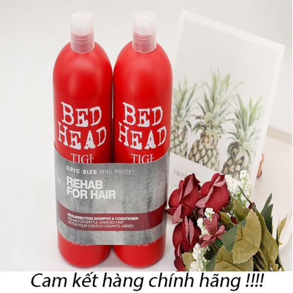 Cặp dầu gội và dưỡng tóc Tigi Bed Head Đỏ - phục hồi tóc hư tổn - 2 chai 750ml - hàng chính hãng cao cấp