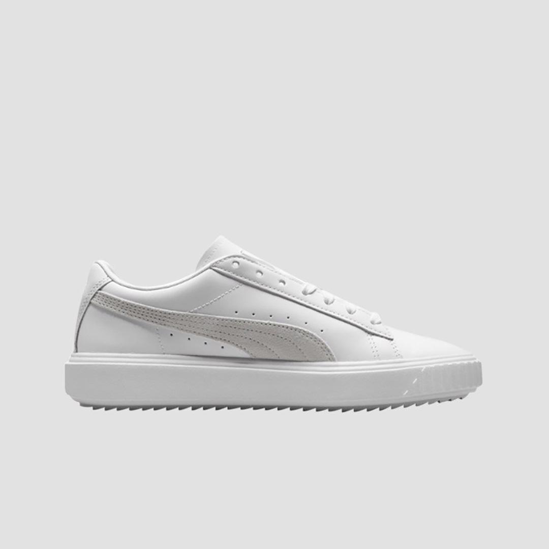 Giày Sneaker Nam Puma Breaker Leather Màu Trắng Bất Ngờ Giảm Giá