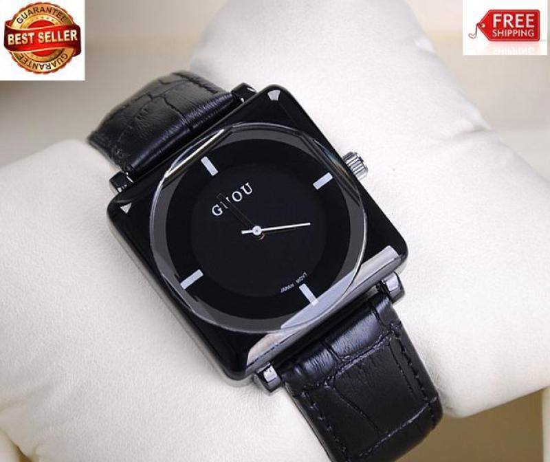 Đồng hồ nữ dây da mặt vuông Guou 8811 (bh 12 tháng)