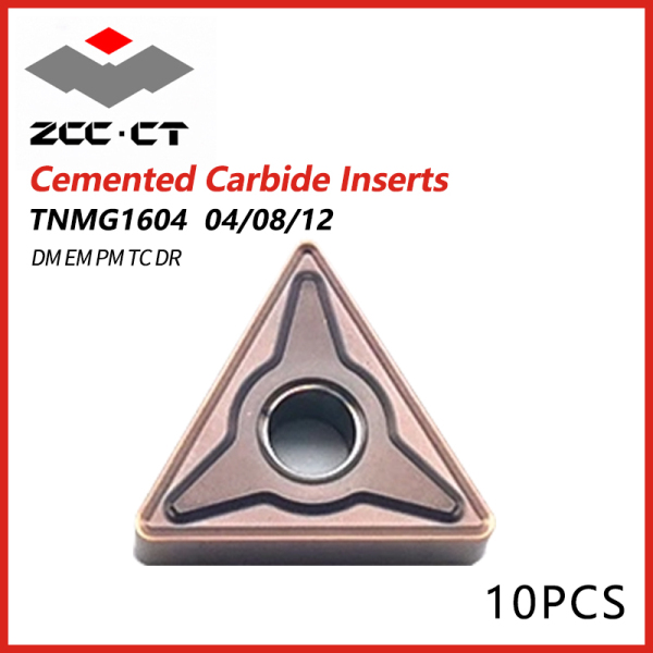 ZCCCT Cemented Carbide Inserts TNMG 1604 04/08/12 DM EM PM TC DR