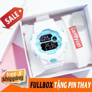 Đồng hồ nữ, đồng hồ dây cao su nữ, đồng hồ thể thao nữ Aosun dây cao su siêu bền,Digital watch hiển thị đèn led, nhiều màu, chống xước nhé, chịu nước sinh hoạt (tặng kèm pin) - halystore thumbnail