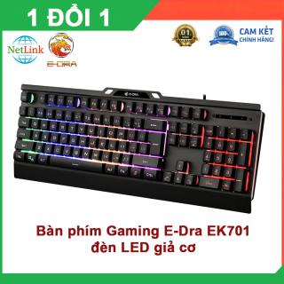 Bàn phím Gaming E-Dra EK701 Bàn phím giả cơ, có đèn LED nhiều màu Bàn phím gaming, bàn phím máy tính, bàn phím đèn led thumbnail