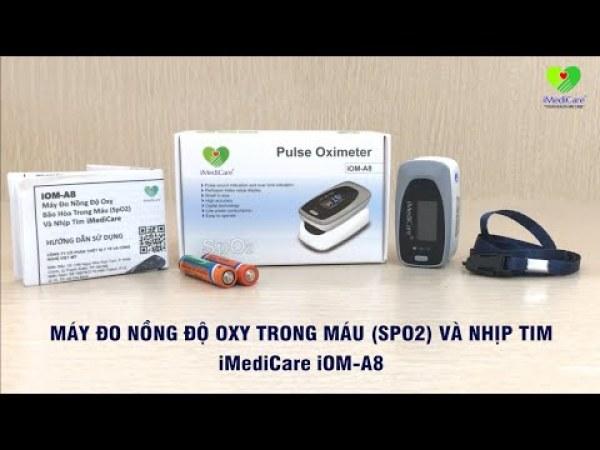 Máy đo nồng độ Oxy trong máu Spo2 và đo nhịp tim Imedicare A8 Singapore bán chạy