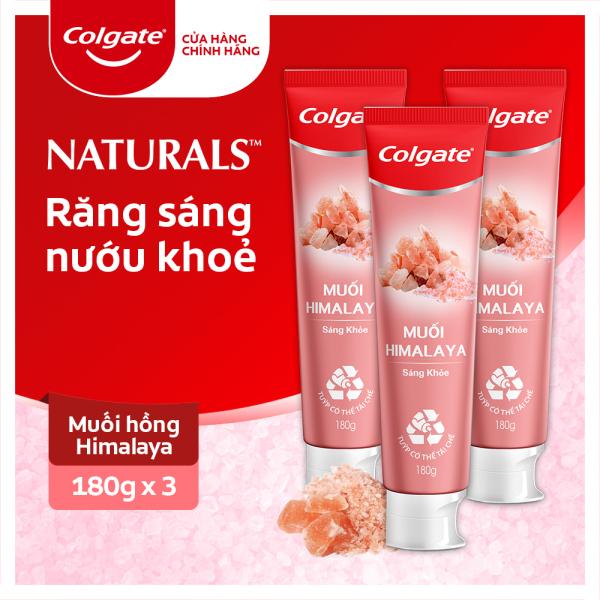 Bộ 3 Kem đánh răng Colgate thiên nhiên muối Himalaya sáng khỏe 180g x3
