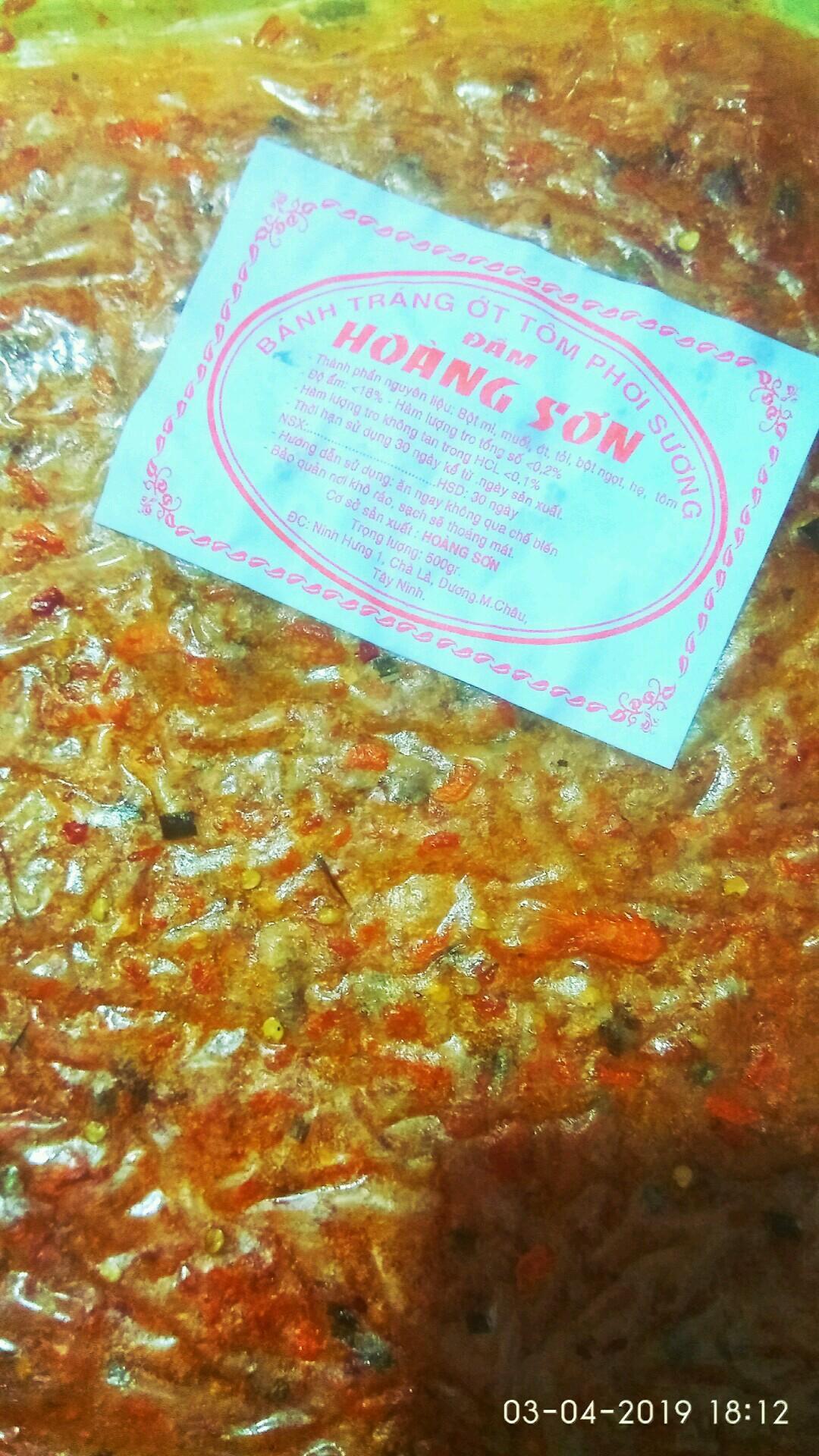 Bánh tráng ớt tôm phơi sương (10cái)