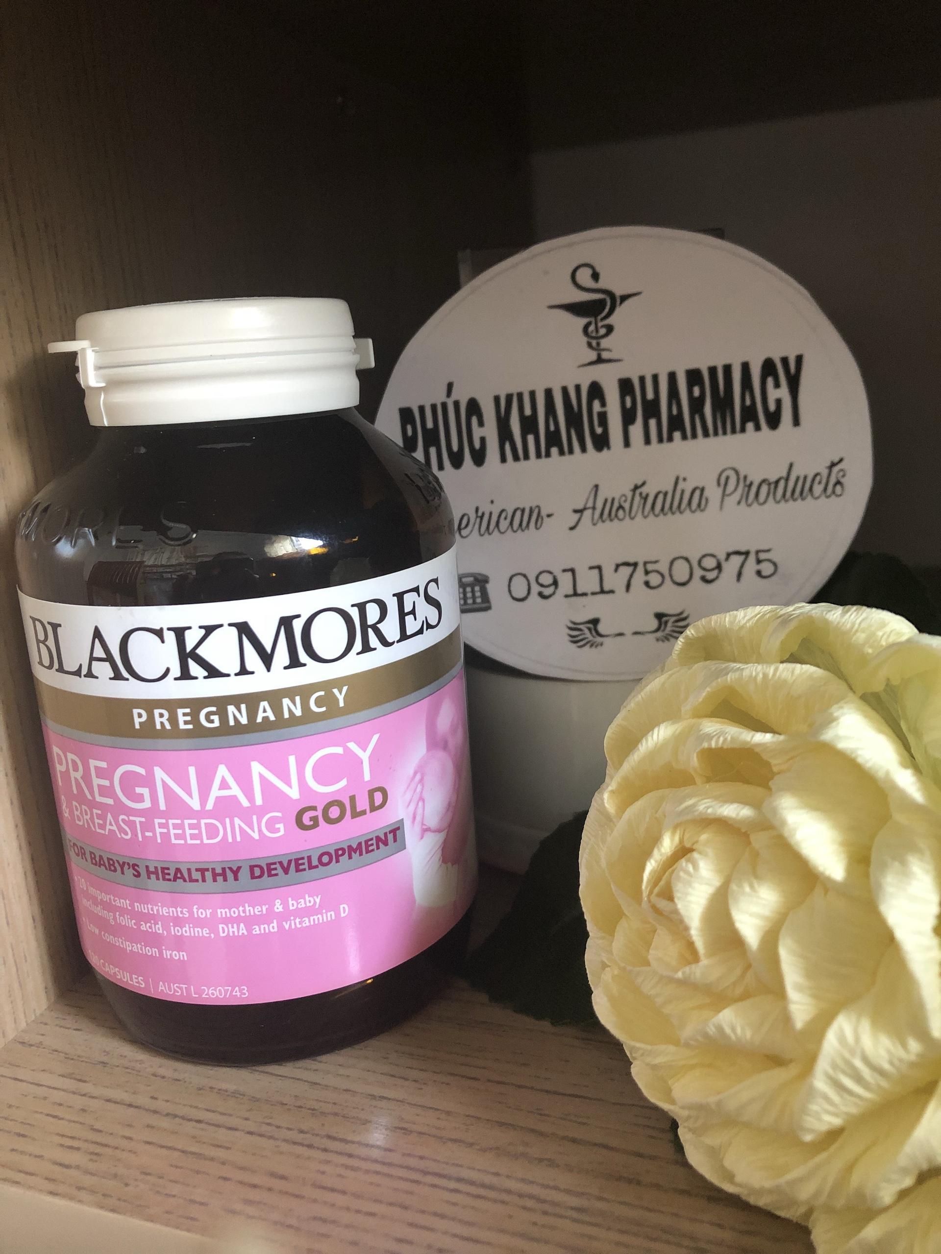 Thực phẩm bảo vệ sức khỏe Blackmores Pregnancy & Breast-Feeding Gold