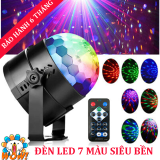 Đèn led xoay 7 màu cảm ứng theo nhạc trang trí tại gia đình, phòng karaoke, chất liệu cao cấp, bền bỉ, thay đổi ánh sáng sân khấu với điều khiển từ xa- BẢO HÀNH 1 ĐỔI 1 thumbnail