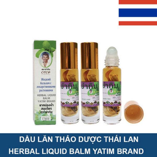 3 chai dầu lăn thảo dược 8ml/chai - chính hãng Thái Lan