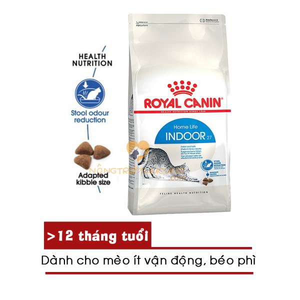 [HCM]Thức ăn mèo Royal Canin INDOOR 2kg (dành cho mèo trưởng thành - ít vận động) - [Nông Trại Thú Cưng]