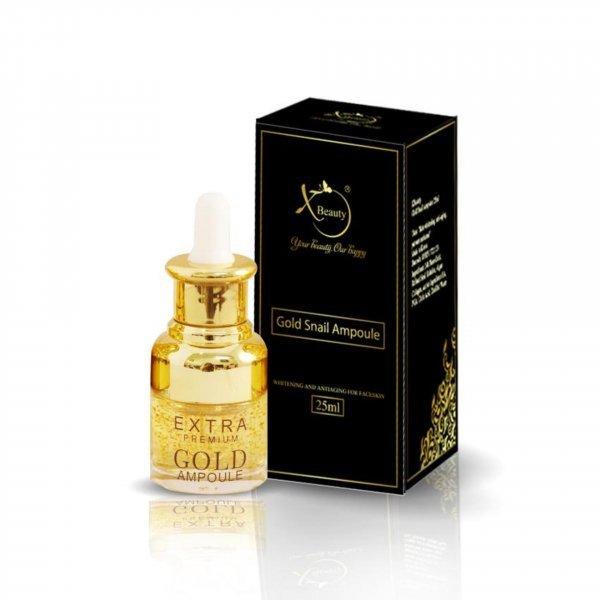 Serum ốc sên serum dưỡng da XBeauty Gold Snail Ampoule 25/20ML. Dưỡng trắng da, ngừa mụn nám, chống lão hóa. Cho trả hàng nếu thấy không ưng ý