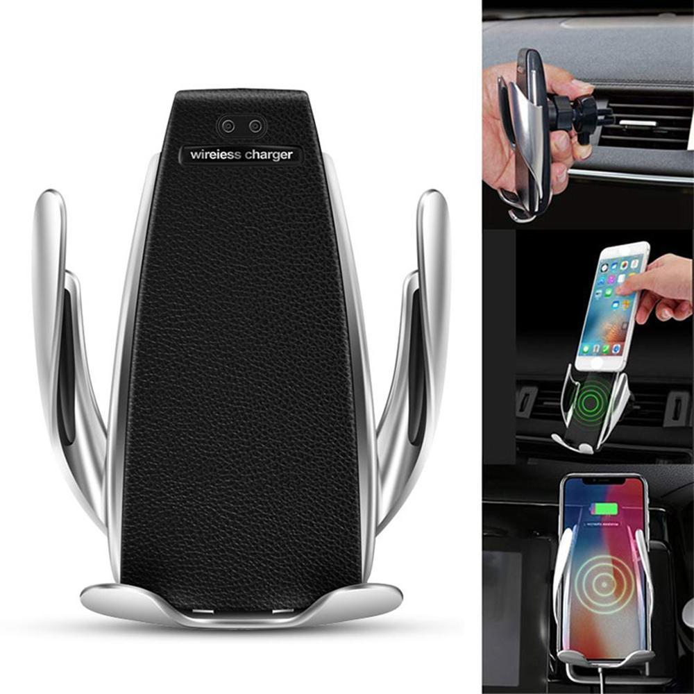 Giá đỡ, kẹp, sạc điện thoại không dây tích hợp cảm biến tự động đóng mở trên xe hơi, ô tô