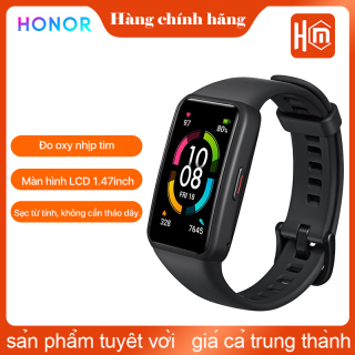 HONOR Band 6 Smart Wrist-band 1.47 Inch AMOLED Touch Screen Professional Sports Fitness Tracker Heart Rate Blood Oxygen Monitor Long Standby Smart watch thumbnail