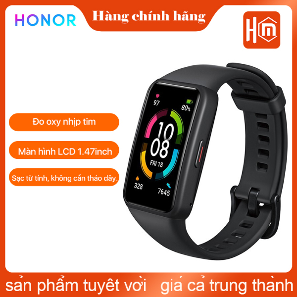 HONOR Band 6 Smart Wrist-band 1.47 Inch AMOLED Touch Screen Professional Sports Fitness Tracker Heart Rate Blood Oxygen Monitor Long Standby Smart watch