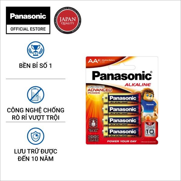 Vỉ Pin Kiềm AA  Alkaline Panasonic LR6T/4B-V (4 Viên) – Hàng Chính Hãng